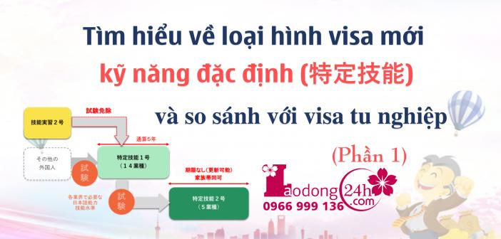 Tìm hiểu về visa kỹ năng đặc định 特定技能 và so sánh với visa thực tập sinh kỹ năng (Phần 1)